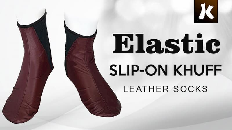 Elastic Slip-on Khuff Leather Socks