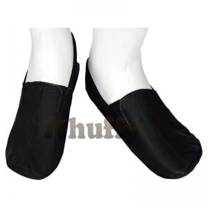 Khuffy® Black Men's/Women's Ankle Low-Cut Elastic Slip-On Halal Leather Sunnah Khuff Khuffain Socks For Mosque