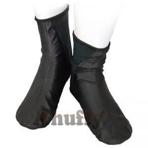 Khuffy Black Men's/Women's Elastic Slip-On Halal Leather Sunnah Khuff Khuffain Socks For Mosque