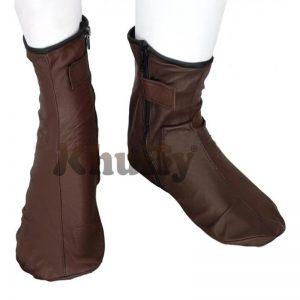 Khuffy Chocolate Brown Men's/Women's Zipper Halal Leather Sunnah Khuff Khuffain Socks For Mosque