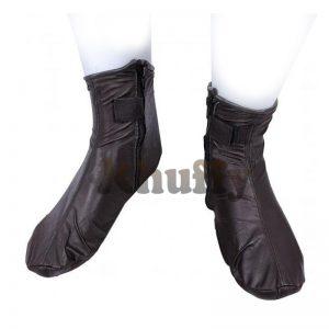 Khuffy Dark Brown Men's/Women's Zipper Halal Leather Sunnah Khuff Khuffain Socks For Mosque