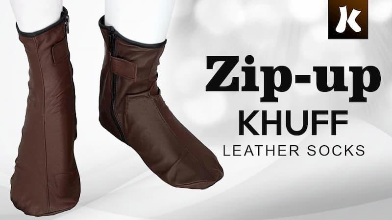 Zip-up Khuff Leather Socks